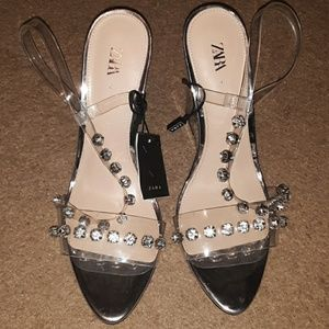 Zara Clear High Heels